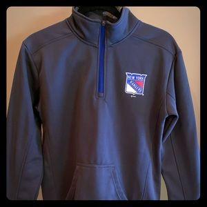 Ny rangers quarter zip sweatshirt